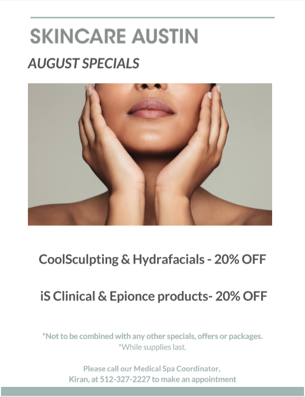 Medical Spa Special and Cosmetic Product Sales in Austin